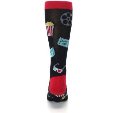 Image of Movie Theater Reel & Popcorn Men's Dress Socks (back-18)