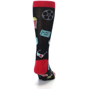 Image of Movie Theater Reel & Popcorn Men's Dress Socks (back-19)
