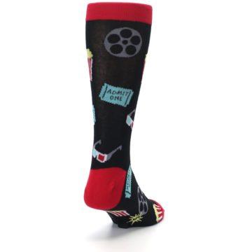 Image of Movie Theater Reel & Popcorn Men's Dress Socks (side-1-back-20)