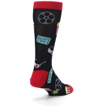 Image of Movie Theater Reel & Popcorn Men's Dress Socks (side-1-back-21)