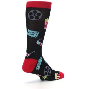 Image of Movie Theater Reel & Popcorn Men's Dress Socks (side-1-back-22)