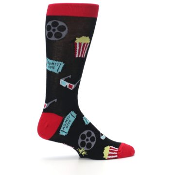 Image of Movie Theater Reel & Popcorn Men's Dress Socks (side-1-24)