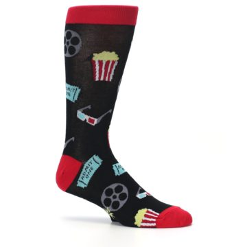 Image of Movie Theater Reel & Popcorn Men's Dress Socks (side-1-25)