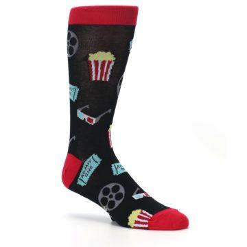 Image of Movie Theater Reel & Popcorn Men's Dress Socks (side-1-26)