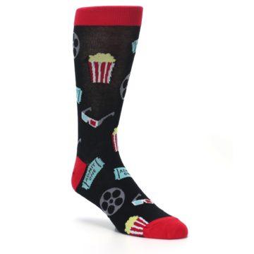 Image of Movie Theater Reel & Popcorn Men's Dress Socks (side-1-27)