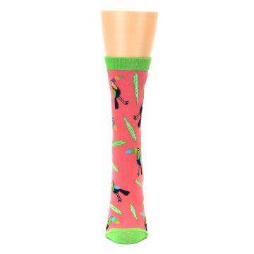 Image of Coral Toucan Do It Women's Dress Sock (front-05)