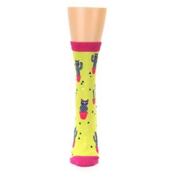 Image of Neon Cat Cactus Women's Dress Sock (front-05)