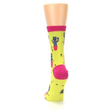 Image of Neon Cat Cactus Women's Dress Sock (back-17)