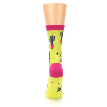 Image of Neon Cat Cactus Women's Dress Sock (back-18)