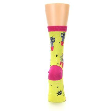 Image of Neon Cat Cactus Women's Dress Sock (back-19)