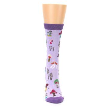 Image of Purple Fun Guys Mushrooms Women's Dress Sock (front-04)