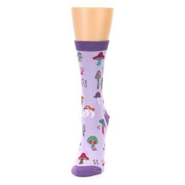 Image of Purple Fun Guys Mushrooms Women's Dress Sock (side-2-front-06)