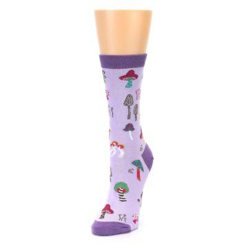 Image of Purple Fun Guys Mushrooms Women's Dress Sock (side-2-front-07)
