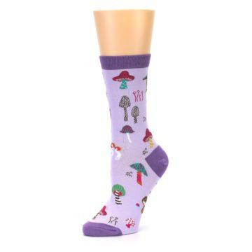 Image of Purple Fun Guys Mushrooms Women's Dress Sock (side-2-09)