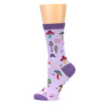 Image of Purple Fun Guys Mushrooms Women's Dress Sock (side-2-11)
