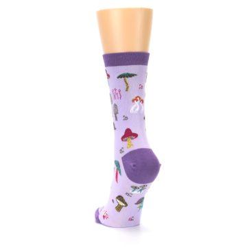 Image of Purple Fun Guys Mushrooms Women's Dress Sock (side-2-back-16)