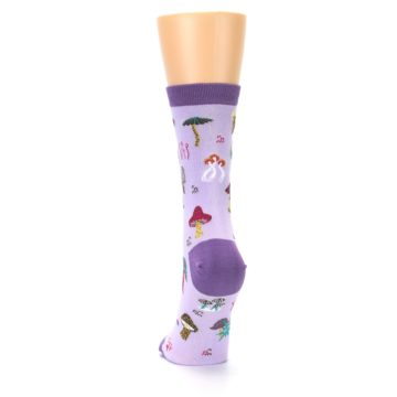 Image of Purple Fun Guys Mushrooms Women's Dress Sock (back-17)