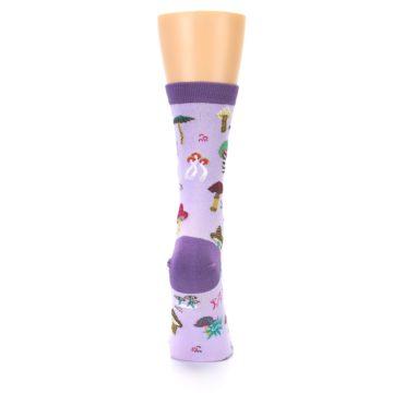 Image of Purple Fun Guys Mushrooms Women's Dress Sock (back-19)