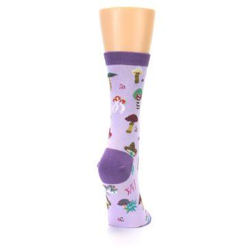Image of Purple Fun Guys Mushrooms Women's Dress Sock (side-1-back-20)
