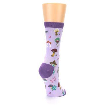 Image of Purple Fun Guys Mushrooms Women's Dress Sock (side-1-back-21)