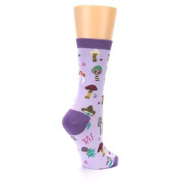 Image of Purple Fun Guys Mushrooms Women's Dress Sock (side-1-back-22)