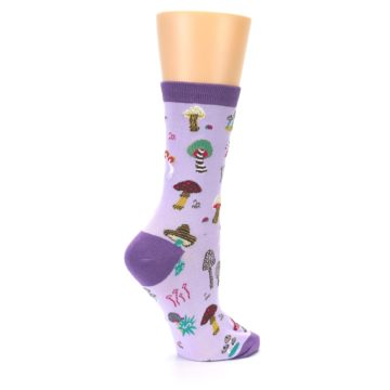 Image of Purple Fun Guys Mushrooms Women's Dress Sock (side-1-23)