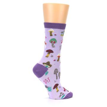 Image of Purple Fun Guys Mushrooms Women's Dress Sock (side-1-24)