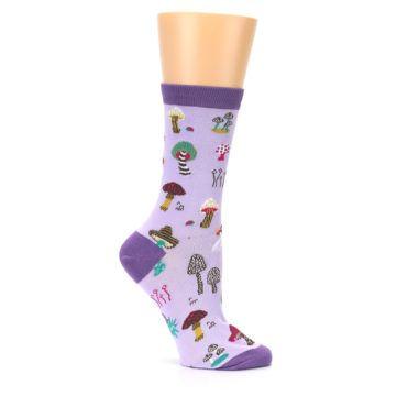 Image of Purple Fun Guys Mushrooms Women's Dress Sock (side-1-25)
