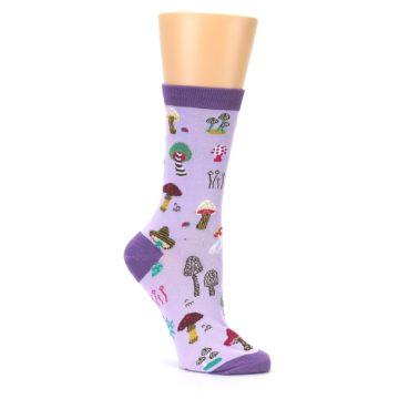 Image of Purple Fun Guys Mushrooms Women's Dress Sock (side-1-26)