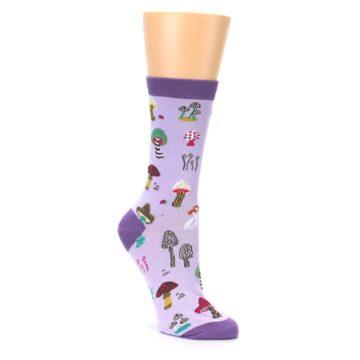 Image of Purple Fun Guys Mushrooms Women's Dress Sock (side-1-27)