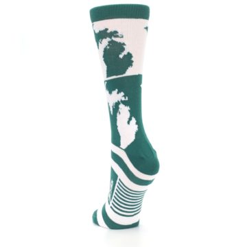 Image of Green White Michigan Women's Dress Socks (side-2-back-16)