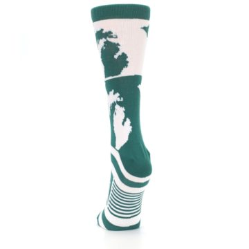 Image of Green White Michigan Women's Dress Socks (back-17)