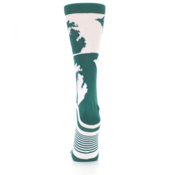 Image of Green White Michigan Women's Dress Socks (back-18)