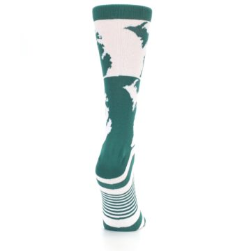 Image of Green White Michigan Women's Dress Socks (side-1-back-20)