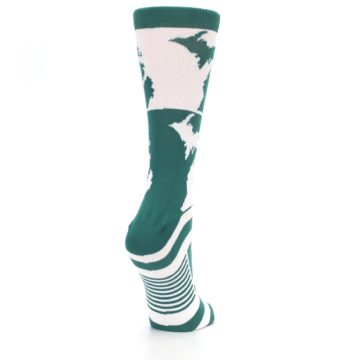 Image of Green White Michigan Women's Dress Socks (side-1-back-21)
