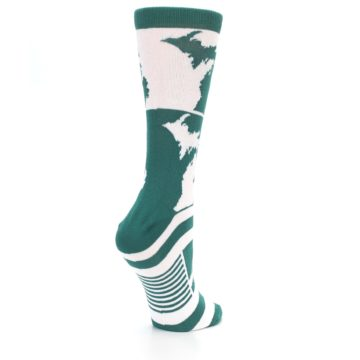 Image of Green White Michigan Women's Dress Socks (side-1-back-22)