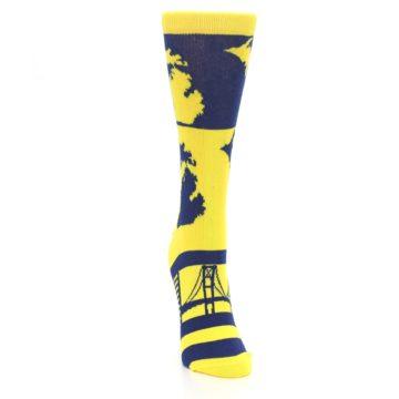 Image of Yellow Blue Michigan Women's Dress Socks (front-04)