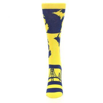 Image of Yellow Blue Michigan Women's Dress Socks (side-2-front-06)