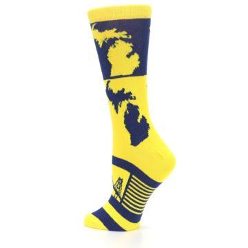 Image of Yellow Blue Michigan Women's Dress Socks (side-2-back-14)