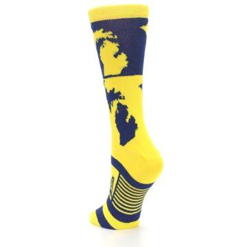 Image of Yellow Blue Michigan Women's Dress Socks (side-2-back-16)