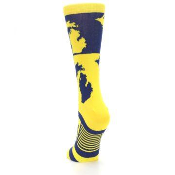 Image of Yellow Blue Michigan Women's Dress Socks (back-17)