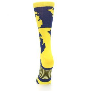 Image of Yellow Blue Michigan Women's Dress Socks (back-18)