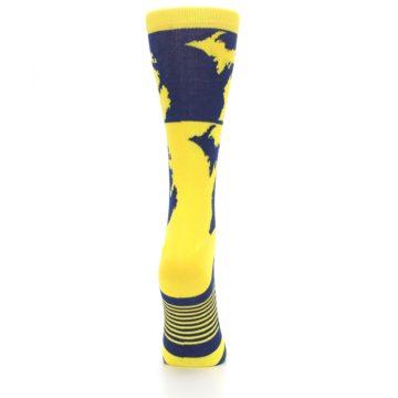 Image of Yellow Blue Michigan Women's Dress Socks (side-1-back-20)