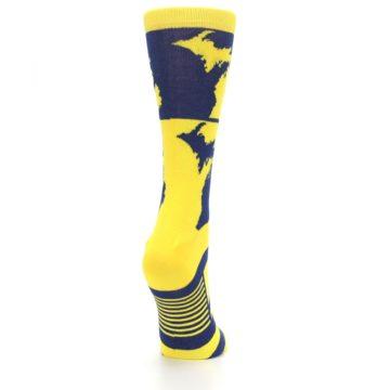 Image of Yellow Blue Michigan Women's Dress Socks (side-1-back-21)