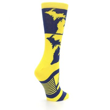 Image of Yellow Blue Michigan Women's Dress Socks (side-1-23)