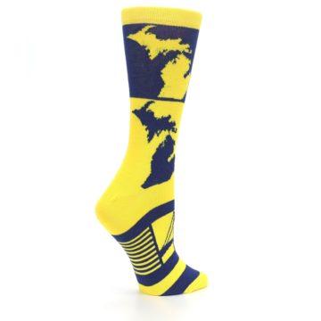 Image of Yellow Blue Michigan Women's Dress Socks (side-1-24)