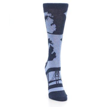 Image of Blue Michigan Women's Dress Socks (front-04)