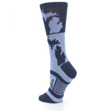 Image of Blue Michigan Women's Dress Socks (side-2-back-15)