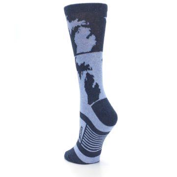 Image of Blue Michigan Women's Dress Socks (side-2-back-16)