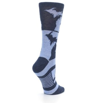 Image of Blue Michigan Women's Dress Socks (side-1-23)